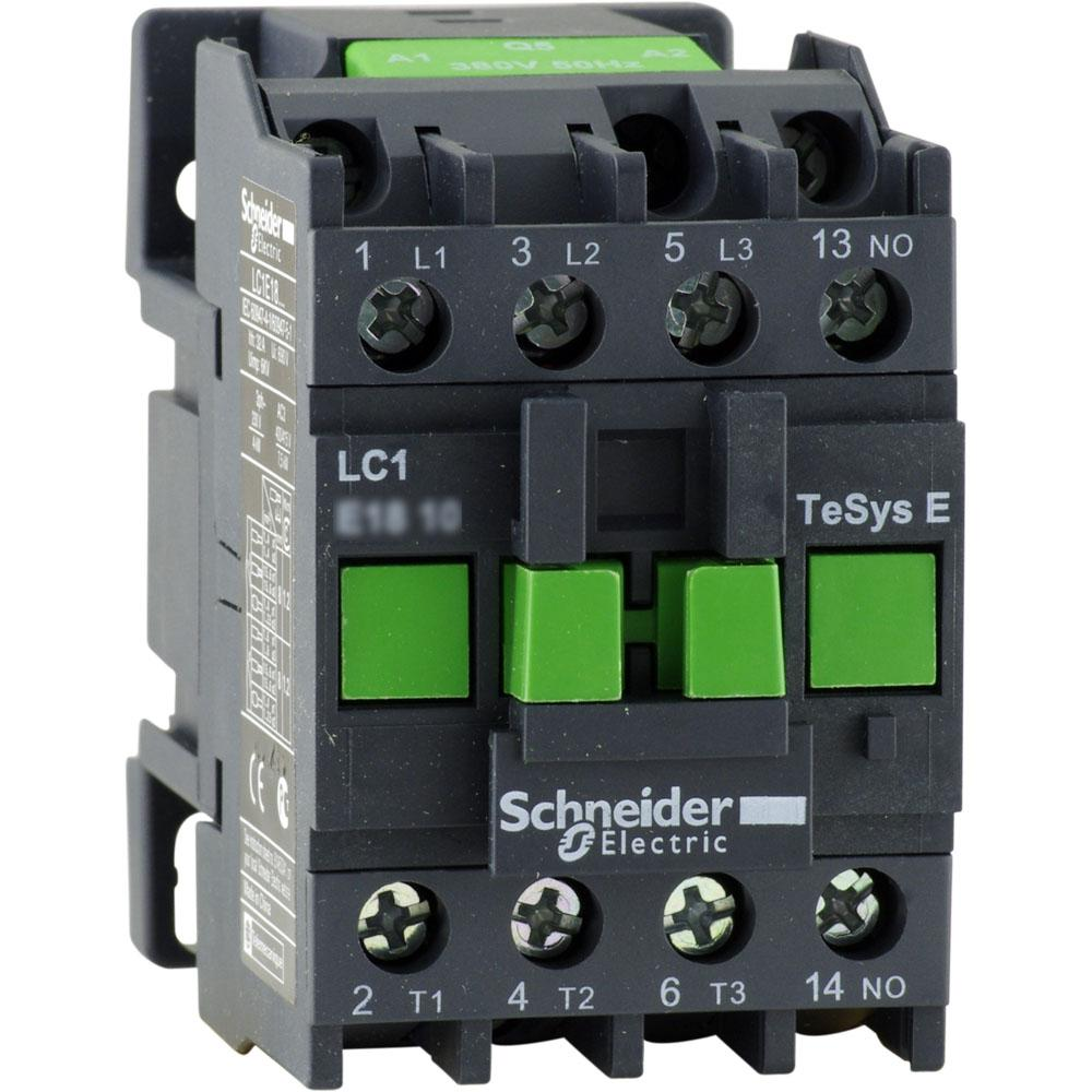 Контактор E 1НО 18А 400В AC3 220В 50ГЦ Schneider Electric,(LC1E1810M5)